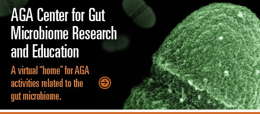 "AGA Center for Gut Microbiome Research and Education  The gut microbiome is among the most exciting and promising areas of science today.  The AGA Governing Board believes the gut microbiome should be an important priority for gastroenterology and the organization.  The AGA has therefore created the AGA Center for Gut Microbiome Research and Education to serve as a virtual ""home"" for AGA activities related to the gut microbiome. AGA Center for Gut Microbiome Research and Education  The gut microbiome is among the most exciting and promising areas of science today.  The AGA Governing Board believes the gut microbiome should be an important priority for gastroenterology and the organization.  The AGA has therefore created the AGA Center for Gut Microbiome Research and Education to serve as a virtual ""home"" for AGA activities related to the gut microbiome."